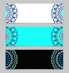 Abstract colorful gemstone mandala banner vector