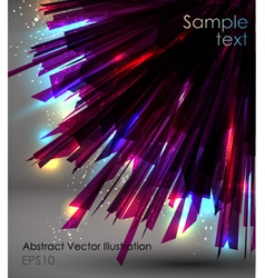 abstract dark sunburst vector image