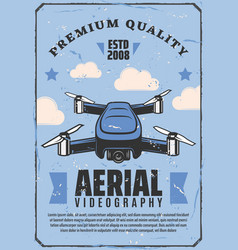 Aerial videography drone camera quadcopter vector