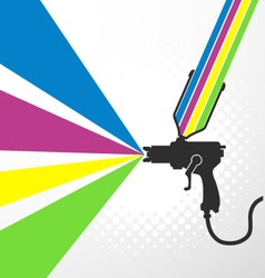 Airbrush or spray gun vector