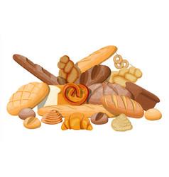 Big bread icons set vector