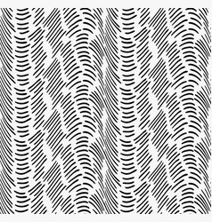 Black marker horizontal dashed waves vector