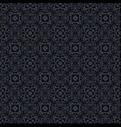 black vintage pattern vector image