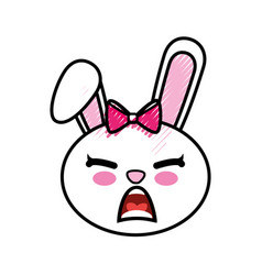 bunny kawaii cartoon vector image