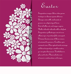 Card with text and eggs for Easter vector