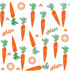 carrot seamless pattern it is located in swatch vector image
