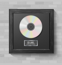 cd disc award modern ceremony realistic vector image