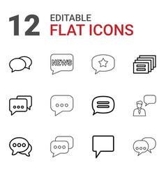 chatting icons vector image