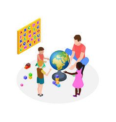 children education teaching kids preschoolers vector image