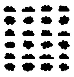 Cloud icon silhouette clouds shape smoke in vector