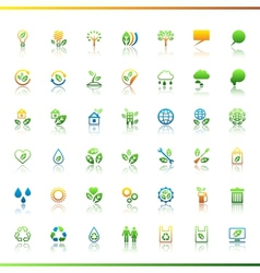 Collection eco web icons vector