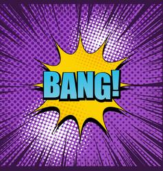 Comic bang wording concept vector
