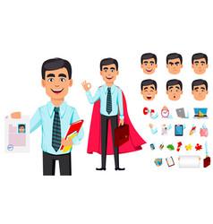 concept business man cartoon character vector image