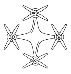 Copter drone icon outline style vector