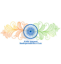Creative indian independence day banner design vector