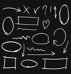 doodle design element doodle lines arrows vector image