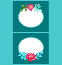 drawn colorful flowers posters vector image