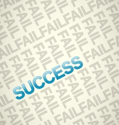 Fail and Success vector image vector image