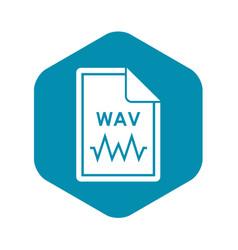 File wav icon simple style vector