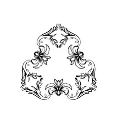 Floral vintage frame isolated on white vector