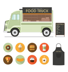 food van vector image