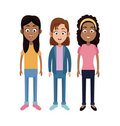 group girl daughter family vector image