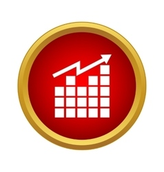 Growing graph icon simple style vector image