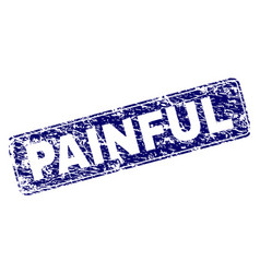 Grunge painful framed rounded rectangle stamp vector