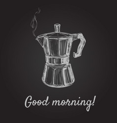 hand drawn sketch coffee maker vector image