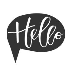 Hello hand written inscription vector