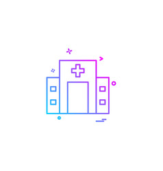 hospital icon design vector image