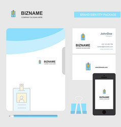 id card business logo file cover visiting card vector image