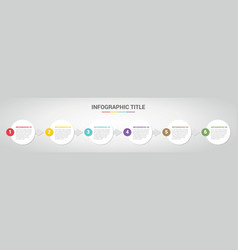 infographic template with circle round style for vector image