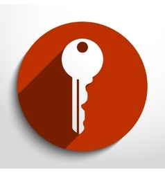 Key web icon vector