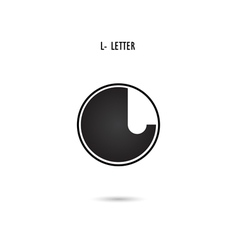 L-letter abstract logo vector image