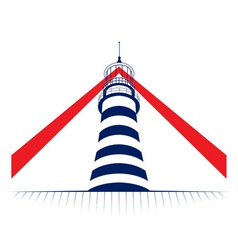 Lamp of lighthouse tower icon vector