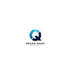 Letter logo q full color gradient vector