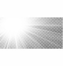 light ray flare isolated on transparent background vector image