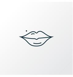 lips icon line symbol premium quality isolated vector image