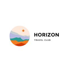 logo logotype sign horizon travel club vector image