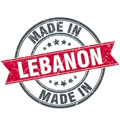 Made in Lebanon red round vintage stamp vector