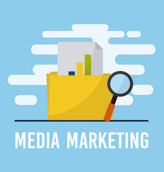 media marketing business concept vector image