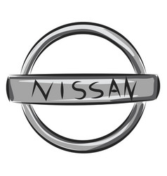Nissan logo or color vector