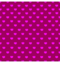 Pink and purple heart textile seamless pattern vector