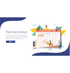 planning flat mini persons vector image