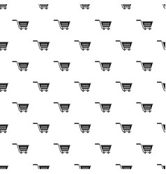 Plastic shopping trolley pattern vector
