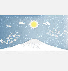 postcard of landscape and concept winter season vector image