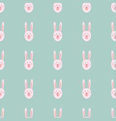 Rabbit toy cute animal seamless pattern vector