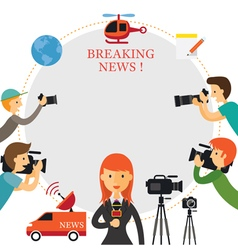 Reporter Photographer Cameraman News Report vector