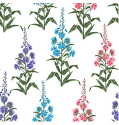Seamless background of flowers of tea willow vector